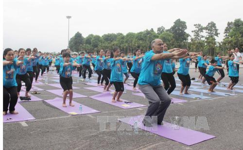 Gần 1.000 người tham gia đồng diễn và thực hành Yoga tại Vĩnh Phúc