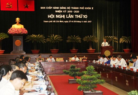 Bế mạc Hội nghị lần thứ 10, Ban Chấp hành Đảng bộ TP Hồ Chí Minh khóa X