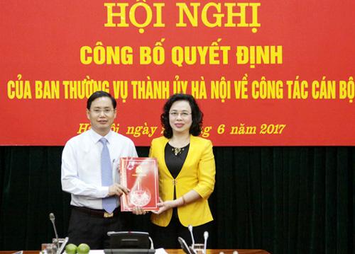 Thành ủy Hà Nội điều động, phân công cán bộ