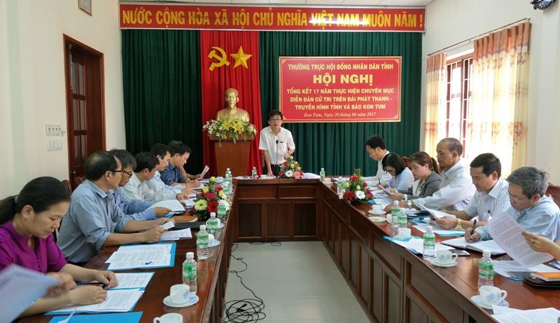 Kon Tum: Tổng kết 17 năm thực hiện chuyên mục Diễn đàn cử tri