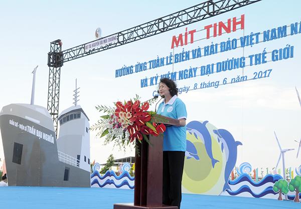 Mít tinh hưởng ứng Tuần lễ Biển và Hải đảo Việt Nam và Ngày Đại dương thế giới năm 2017