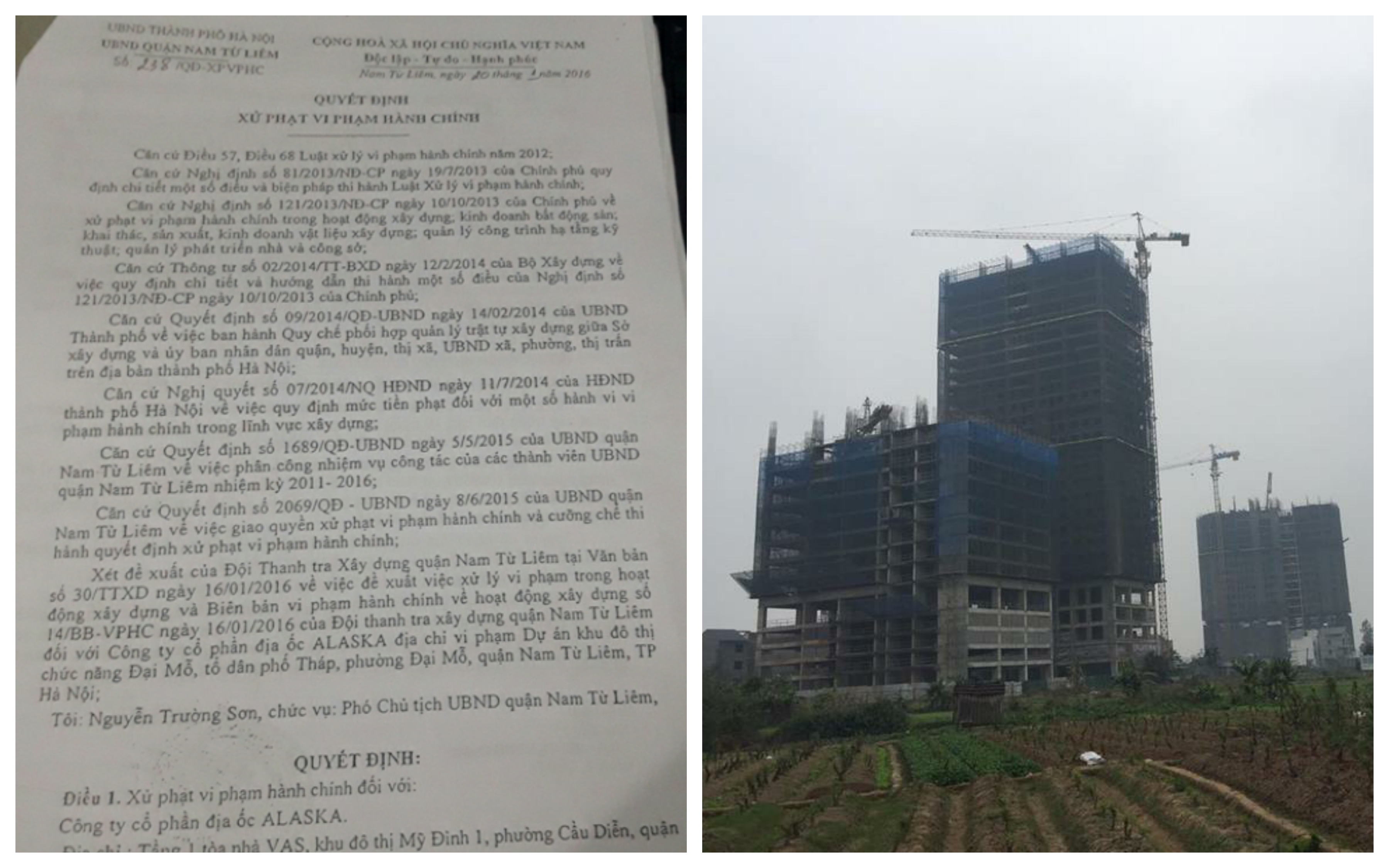 6 tháng đầu năm 2017, Thanh tra Sở Xây dựng Hà Nội ban hành 940 quyết định xử phạt vi phạm