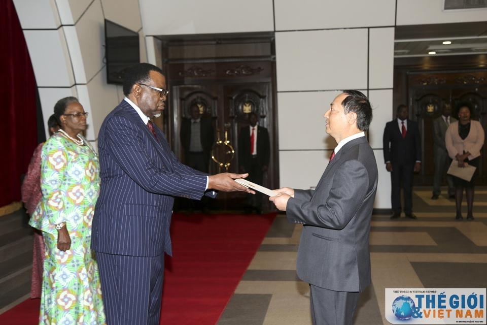Đại sứ Việt Nam trình Quốc thư lên Tổng thống Cộng hòa Namibia