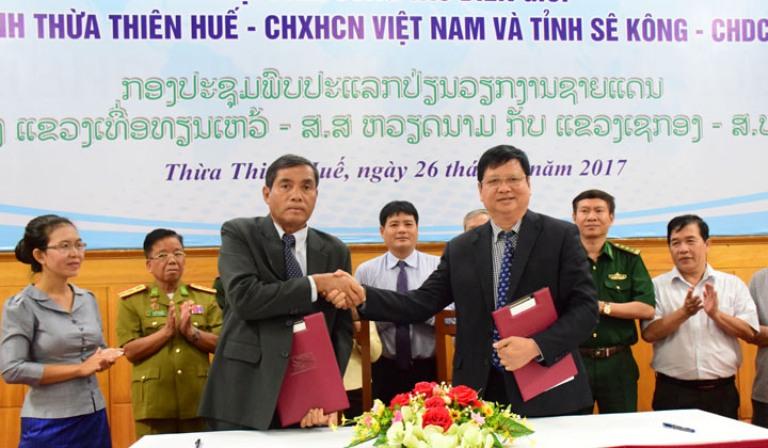 Nâng cao hiệu quả công tác biên giới giữa tỉnh Thừa Thiên Huế và tỉnh Sê Kông (Lào)