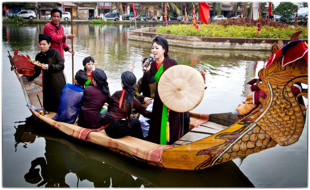 Bắc Ninh: Tổ chức hát quan họ trên thuyền vào tối thứ 7 hàng tuần