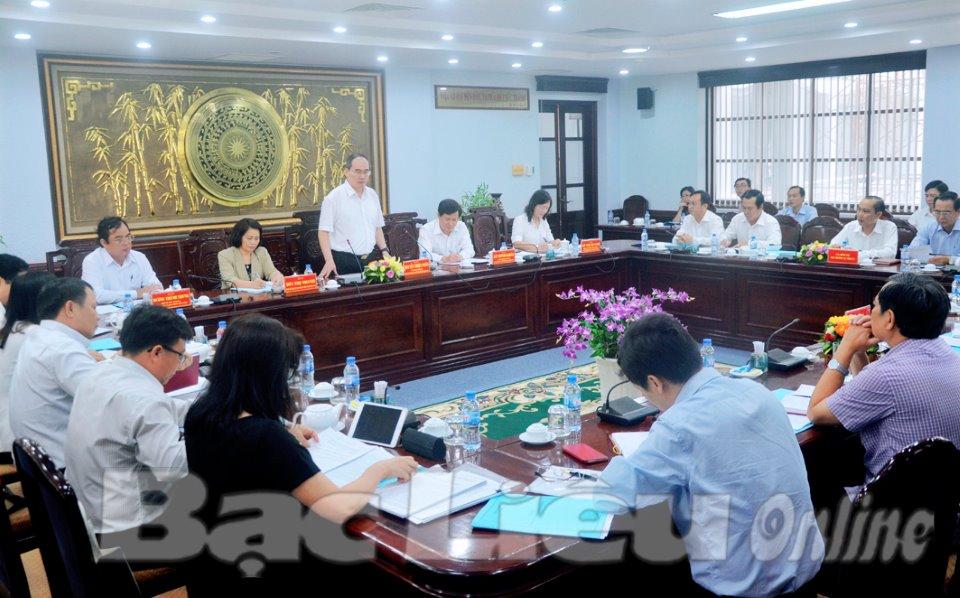 Đoàn kiểm tra Bộ Chính trị: Làm việc với Ban Thường vụ Tỉnh ủy Bạc Liêu về công tác cán bộ