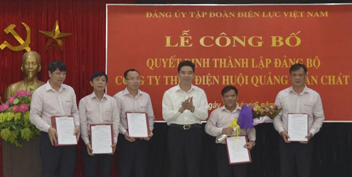 Công bố Quyết định thành lập Đảng bộ Công ty Thủy điện Huội Quảng – Bản Chát