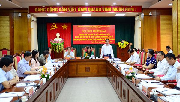 Triển khai kế hoạch kiểm tra, giám sát về phòng, chống tham nhũng tại Tuyên Quang