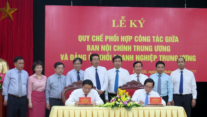 Phối hợp công tác giữa Ban Nội chính Trung ương và Đảng ủy Khối Doanh nghiệp Trung ương