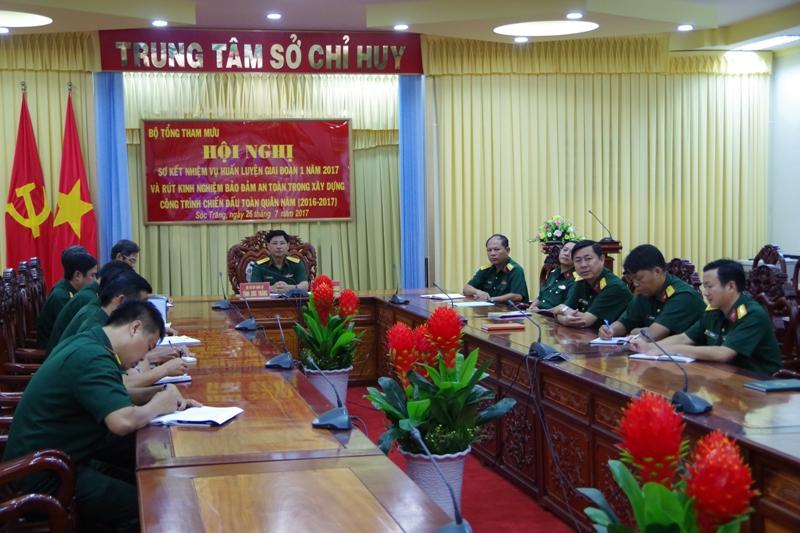 Bộ Tổng Tham mưu sơ kết nhiệm vụ huấn luyện giai đoạn 1 năm 2017