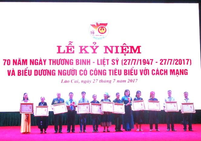 Lào Cai tổ chức Lễ kỷ niệm 70 năm Ngày Thương binh - Liệt sỹ