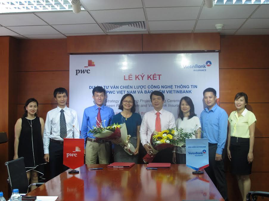Bảo hiểm Vietinbank và Công ty PwC ký kết hợp tác tư vấn chiến lược về CNTT