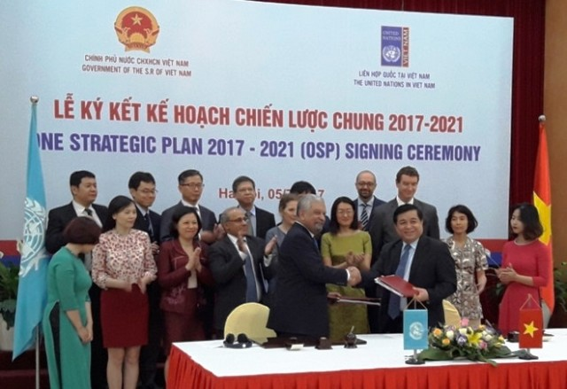 Việt Nam và Liên Hợp Quốc ký kế hoạch chiến lược chung giai đoạn 2017-2021