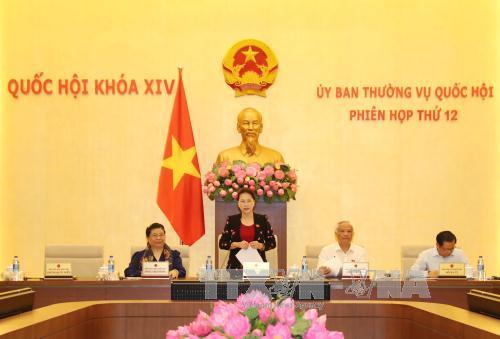 Khai mạc phiên họp thứ 12 của Ủy ban Thường vụ Quốc hội