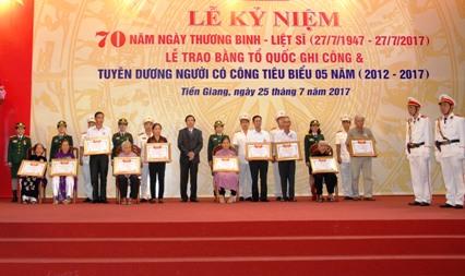 Tiền Giang trang trọng tổ chức Lễ kỷ niệm 70 năm Ngày Thương binh - Liệt sĩ