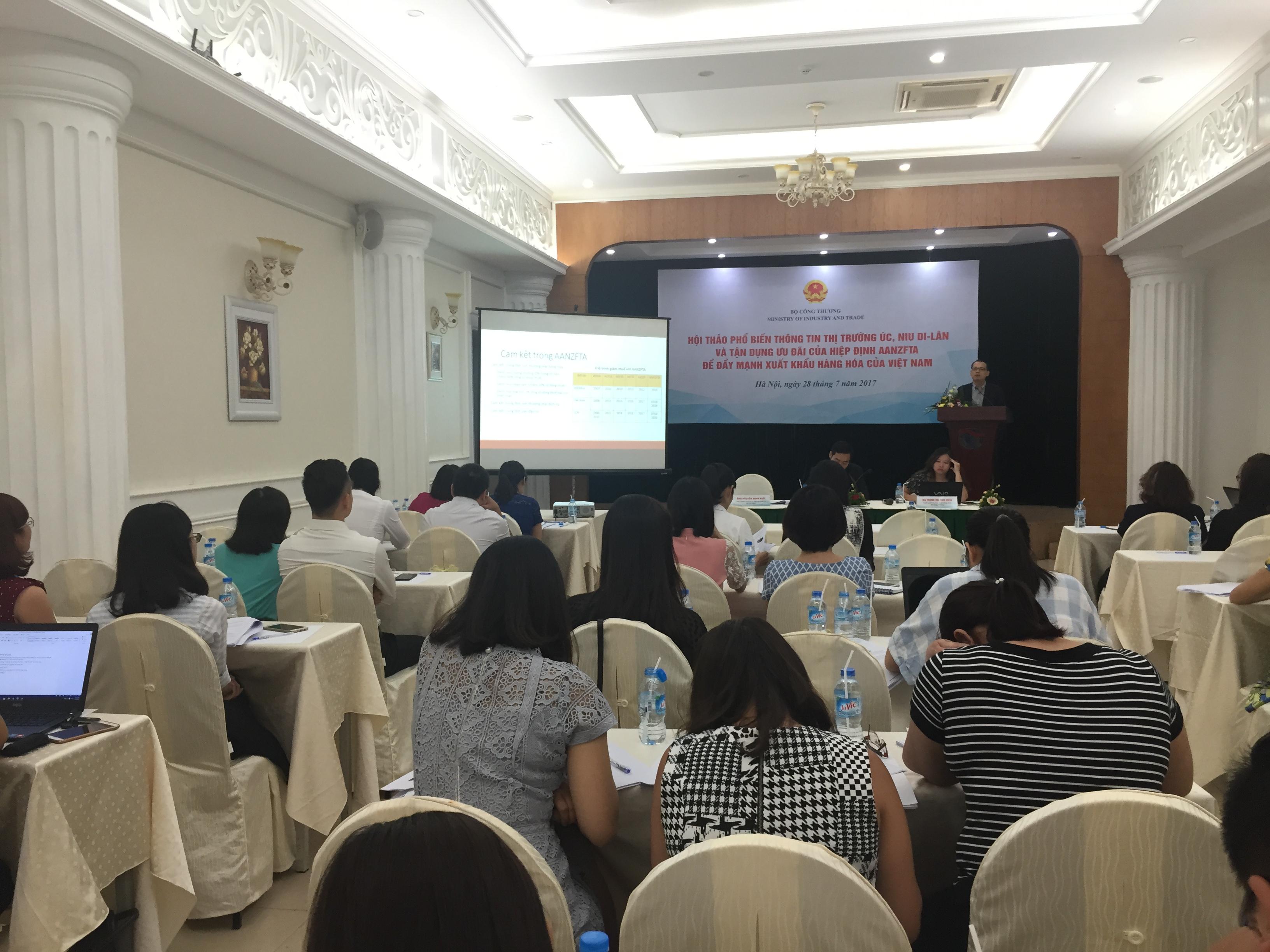 Australia và New Zealand là hai thị trường xuất khẩu tiềm năng của doanh nghiệp Việt Nam