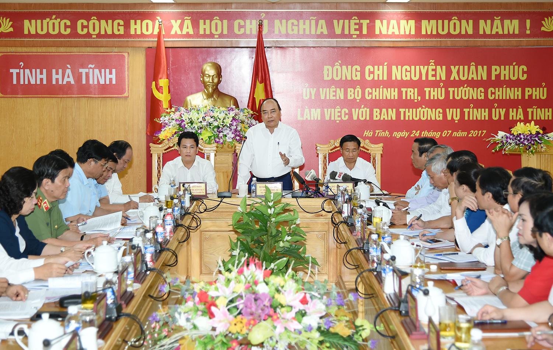 Chính phủ sẽ tạo điều kiện cho Hà Tĩnh phát triển