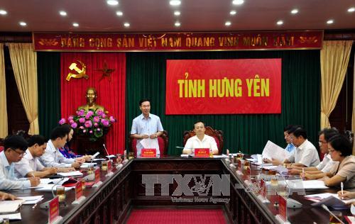 Đồng chí Võ Văn Thưởng và đoàn kiểm tra của Ban Bí thư Trung ương làm việc tại Hưng Yên