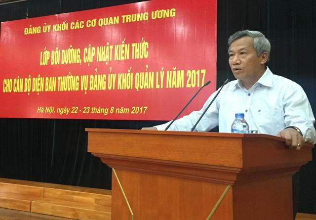 Đảng ủy Khối các cơ quan Trung ương cập nhật kiến thức cho các cán bộ lãnh đạo, quản lý