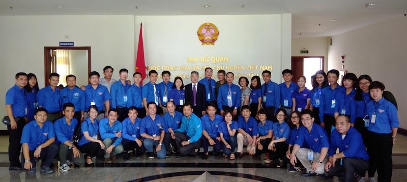 Đoàn Thanh niên Hội Liên hiệp Thanh niên thành phố Hà Nội hoạt động tình nguyện tại Lào