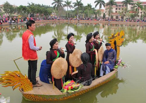 Bắc Ninh tổ chức hát quan họ trên thuyền hàng tuần 