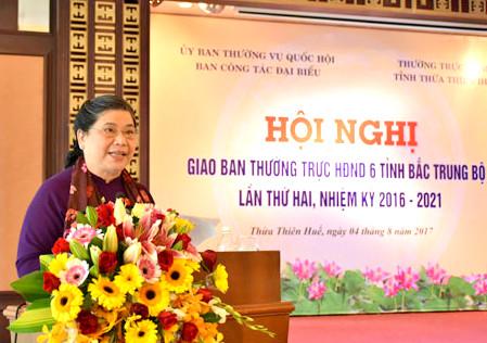 Hội nghị giao ban Thường trực HĐND 6 tỉnh Bắc Trung Bộ