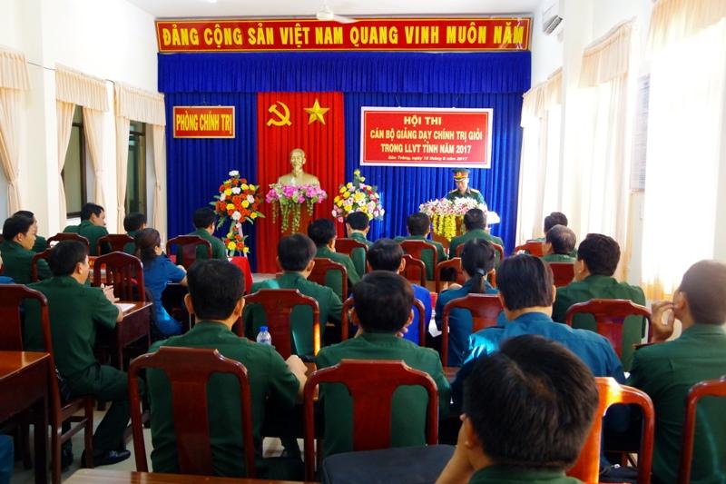 Sóc Trăng: Hội thi Cán bộ giảng dạy chính trị giỏi