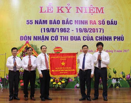 Báo Bắc Ninh: Kỷ niệm 55 năm ngày ra số báo đầu và đón nhận Cờ Thi đua của Chính phủ