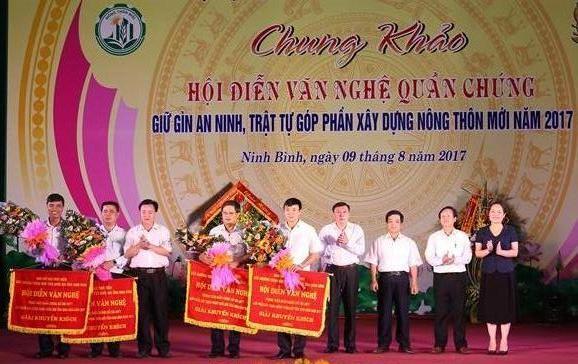 Ninh Bình: Hội diễn văn nghệ quần chúng giữ gìn an ninh trật tự, góp phần xây dựng nông thôn mới
