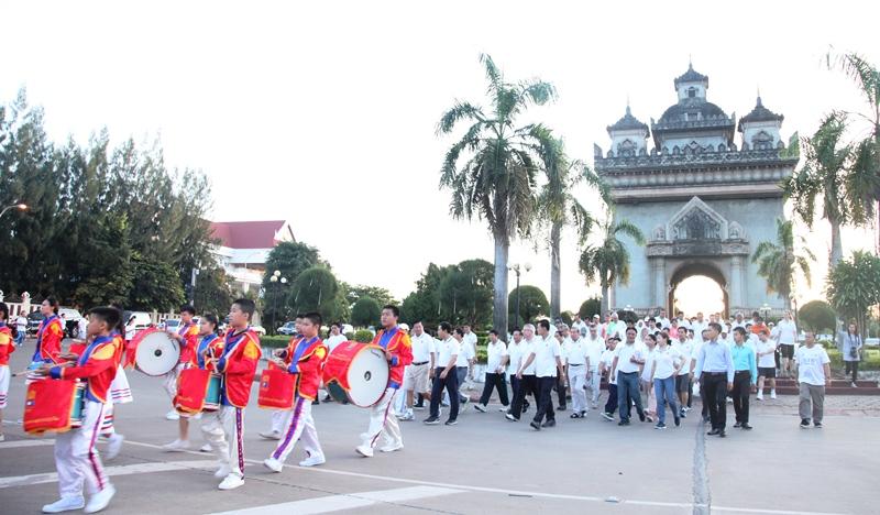 Đi bộ vì sức khỏe Kỷ niệm 50 năm thành lập ASEAN tại Lào