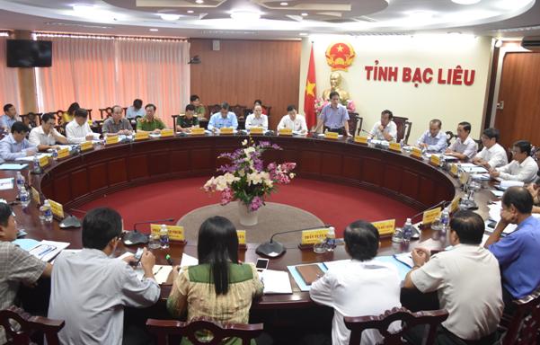 Đoàn công tác Ủy ban Tư pháp của Quốc hội làm việc tại tỉnh Bạc Liêu