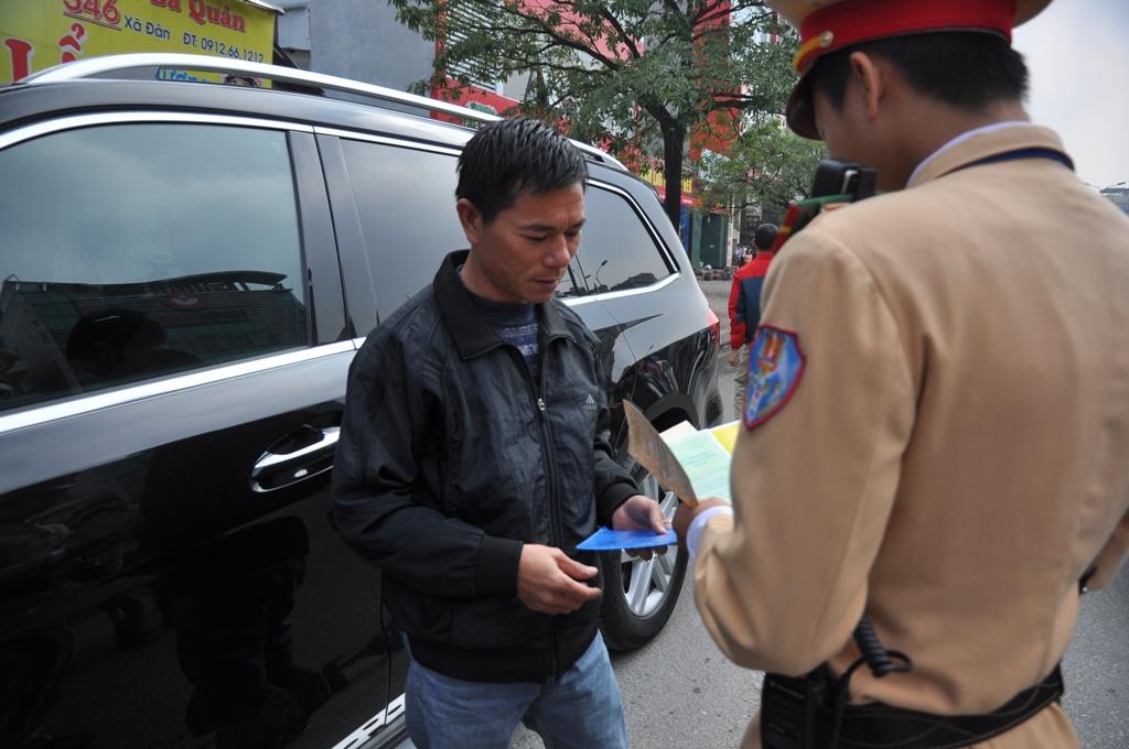 Chủ xe được sử dụng Giấy đăng ký photo khi tham gia giao thông