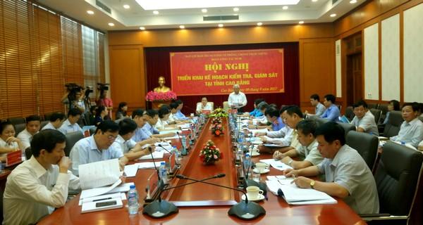 Triển khai kế hoạch kiểm tra, giám sát phòng chống tham nhũng tại tỉnh Cao Bằng