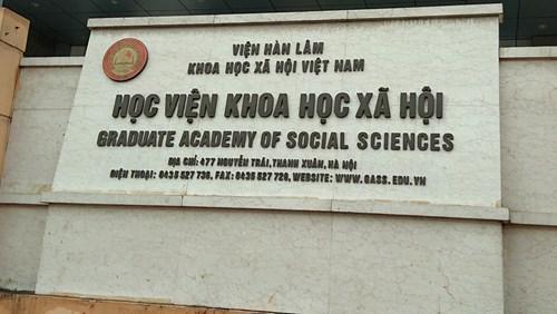 Cơ cấu tổ chức Viện Hàn lâm Khoa học xã hội Việt Nam