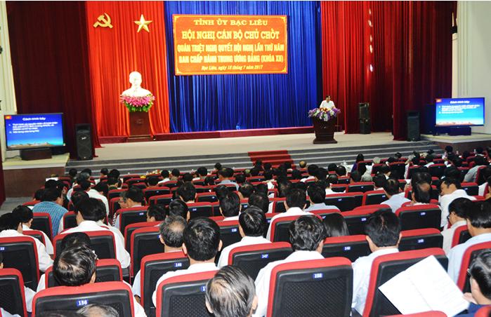 Hội nghị cán bộ chủ chốt quán triệt Nghị quyết Trung ương 5 khóa XII