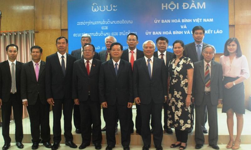 Tăng cường quan hệ hợp tác giữa Ủy ban Hòa bình Việt Nam và Ủy ban Hòa bình và Đoàn kết Lào