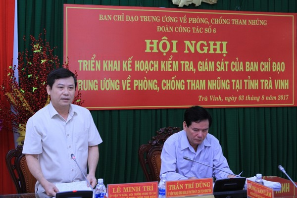 Ban Chỉ đạo Trung ương về phòng, chống tham nhũng làm việc tại tỉnh Sóc Trăng