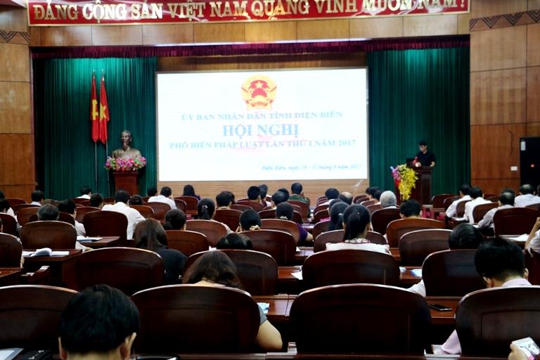 Điện Biên: Tổ chức Hội nghị Phổ biến pháp luật lần thứ I năm 2017  