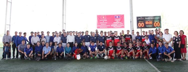 Giao hữu thể thao chào mừng Quốc khánh Việt Nam tại Lào