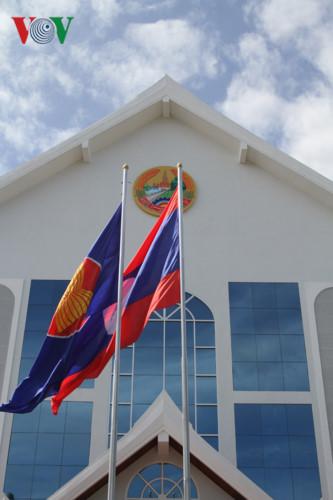 Lào tổ chức Lễ thượng cờ kỷ niệm 20 năm trở thành thành viên ASEAN