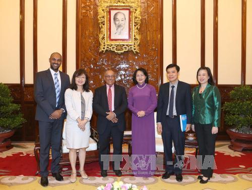Phó Chủ tịch nước Đặng Thị Ngọc Thịnh tiếp Trưởng Đại diện Quỹ Nhi đồng Liên hợp quốc tại Việt Nam