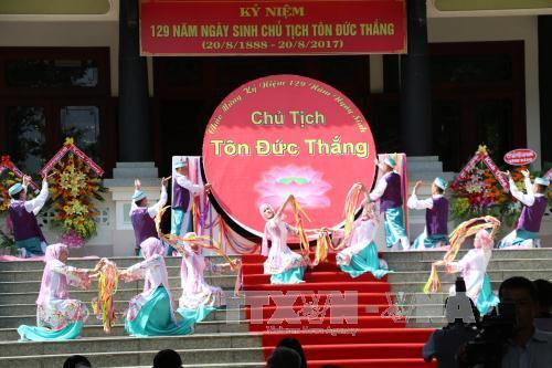 An Giang: Lễ kỷ niệm 129 năm Ngày sinh Chủ tịch Tôn Đức Thắng