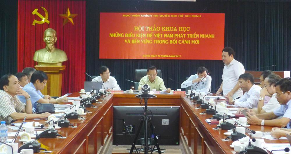 Điều kiện để Việt Nam phát triển nhanh và bền vững trong bối cảnh mới