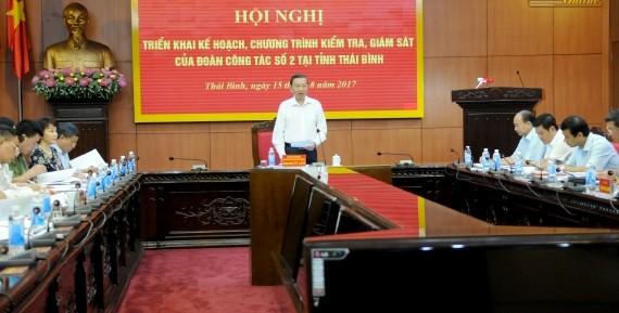 Ban Chỉ đạo Trung ương về phòng, chống tham nhũng kiểm tra, giám sát tại tỉnh Thái Bình