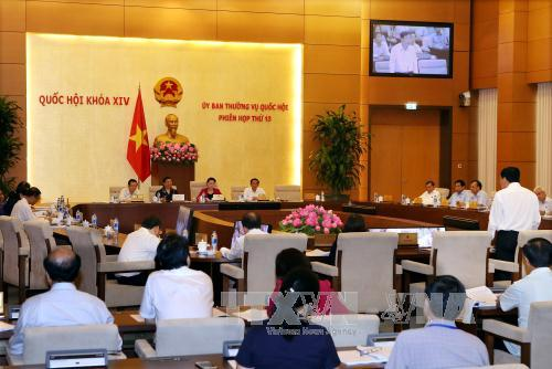 Tiếp tục Phiên họp thứ 13, Ủy ban Thường vụ Quốc hội Khóa XIV