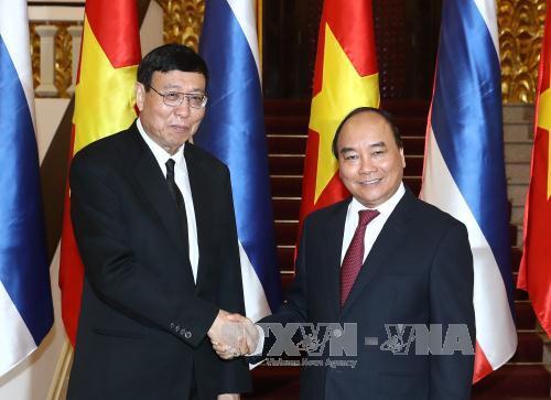 Thủ tướng Nguyễn Xuân Phúc tiếp Chủ tịch Hội đồng Lập pháp quốc gia Thái Lan