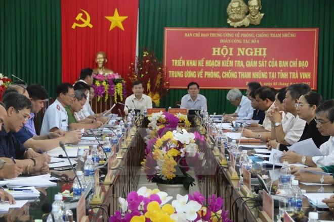 Kiểm tra công tác phòng, chống tham nhũng tại tỉnh Trà Vinh