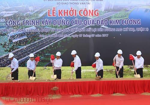 TP. Hồ Chí Minh: Gần 500 tỷ đồng xây dựng cầu qua đảo Kim Cương