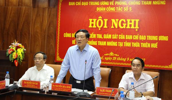 Công bố kết quả kiểm tra, giám sát phòng, chống tham nhũng tại Thừa Thiên Huế