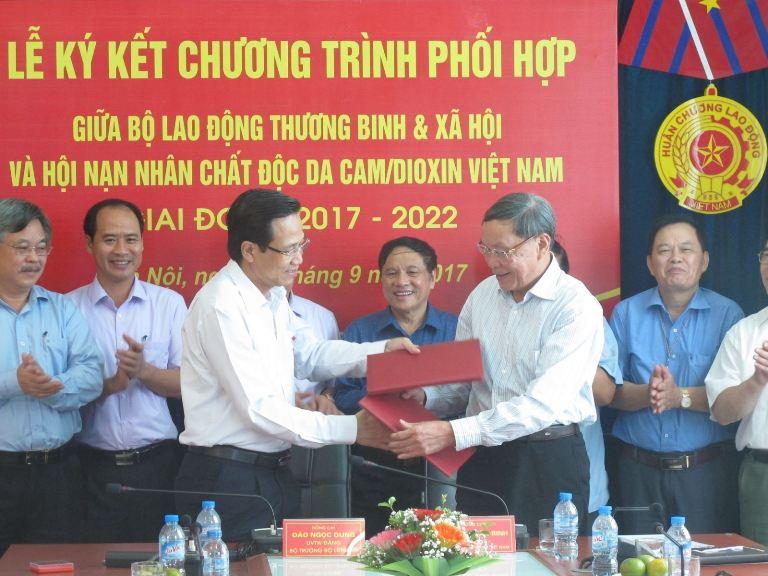 Tăng cường phối hợp giữa ngành Lao động, Thương binh và Xã hội với Hội Nạn nhân chất độc da cam/ Dioxin Việt Nam